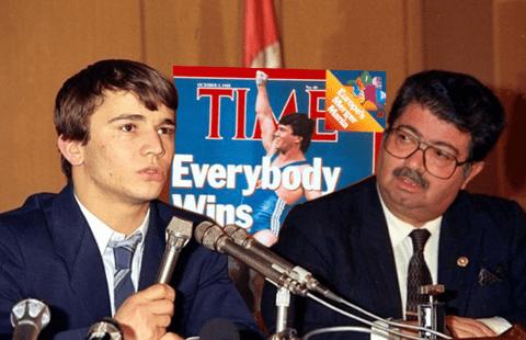 Naim suleymanoglu avec le président Turgut Ozal