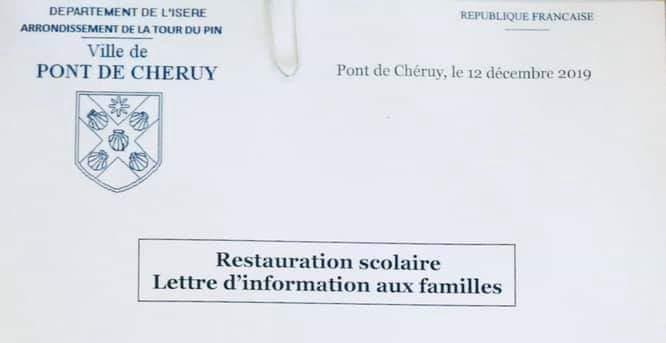 lettre de la mairie vévétarien