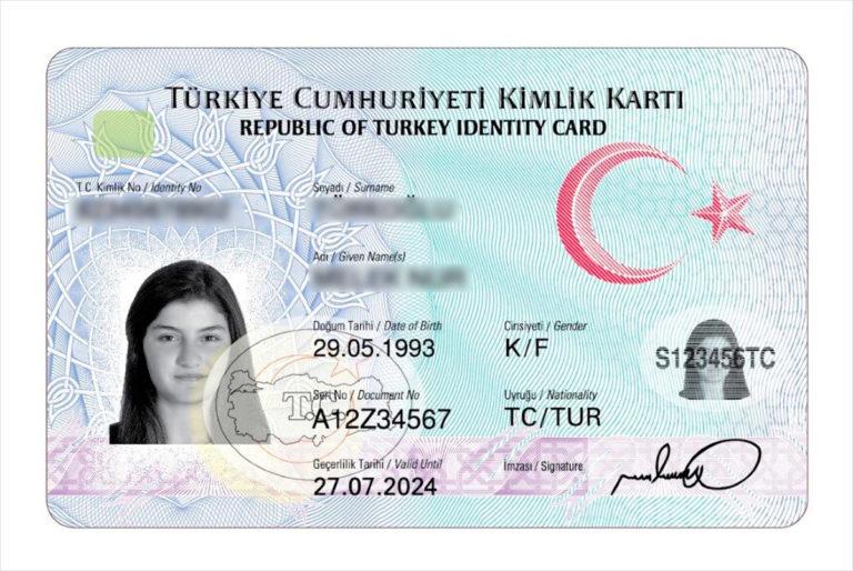 carte d'identité turque