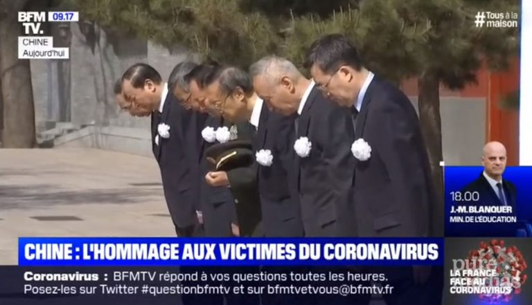dérapage chine hommage bfm