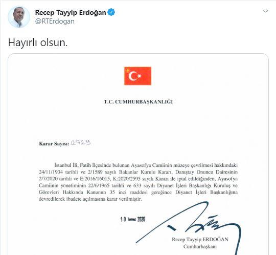 Erdogan sainte sophie
