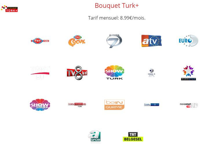 freebox chaines turques