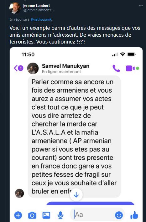 menaces arméniens