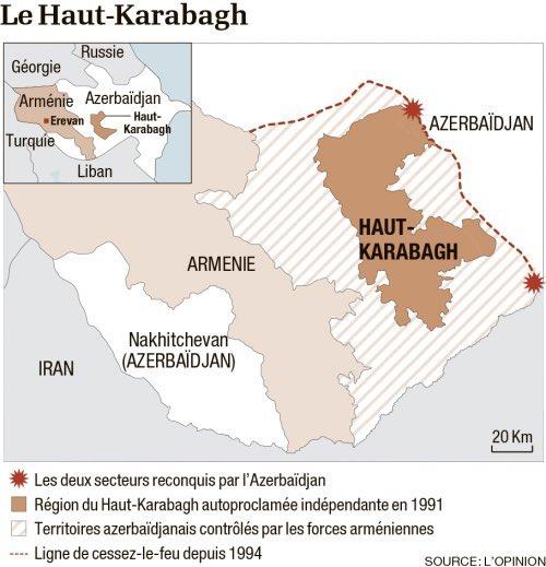 Le Haut Karabagh occupé par l'Arménie