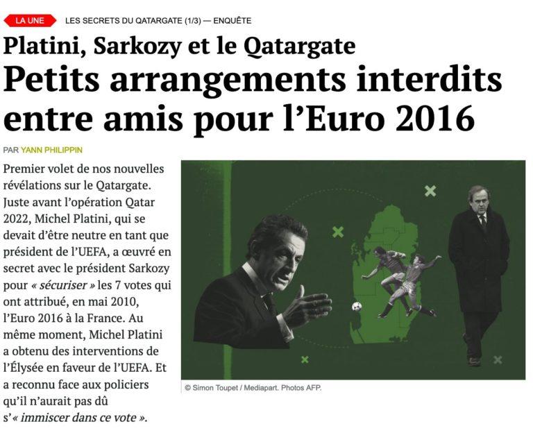 Médiapart euro 2016 Platini