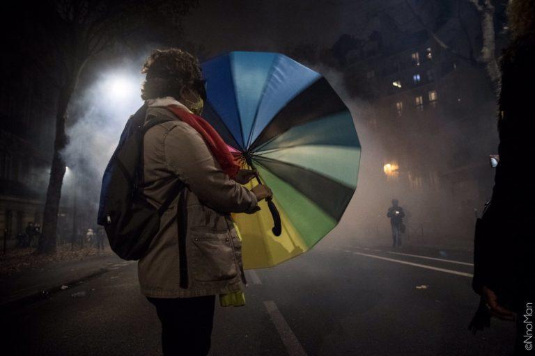 Parapluie Black bloc