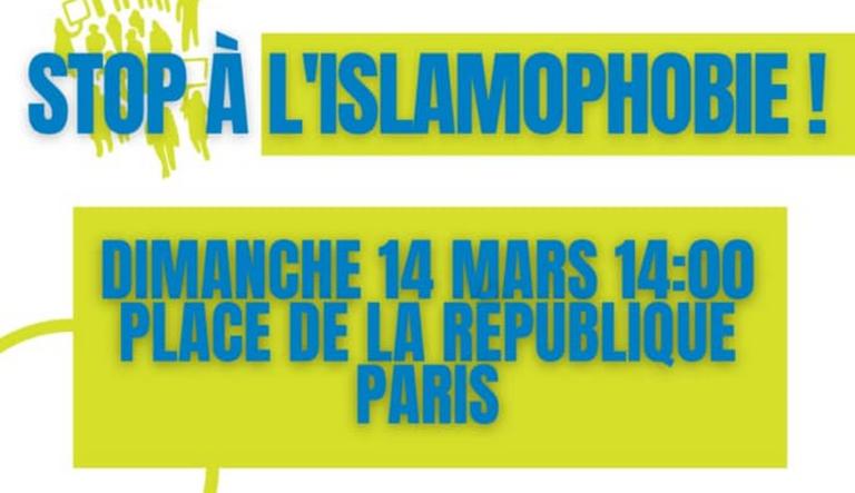 rassemblement contre islamophobie