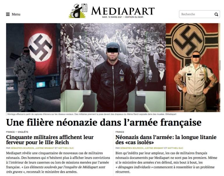 des néonazis dans l'armée française médiapart