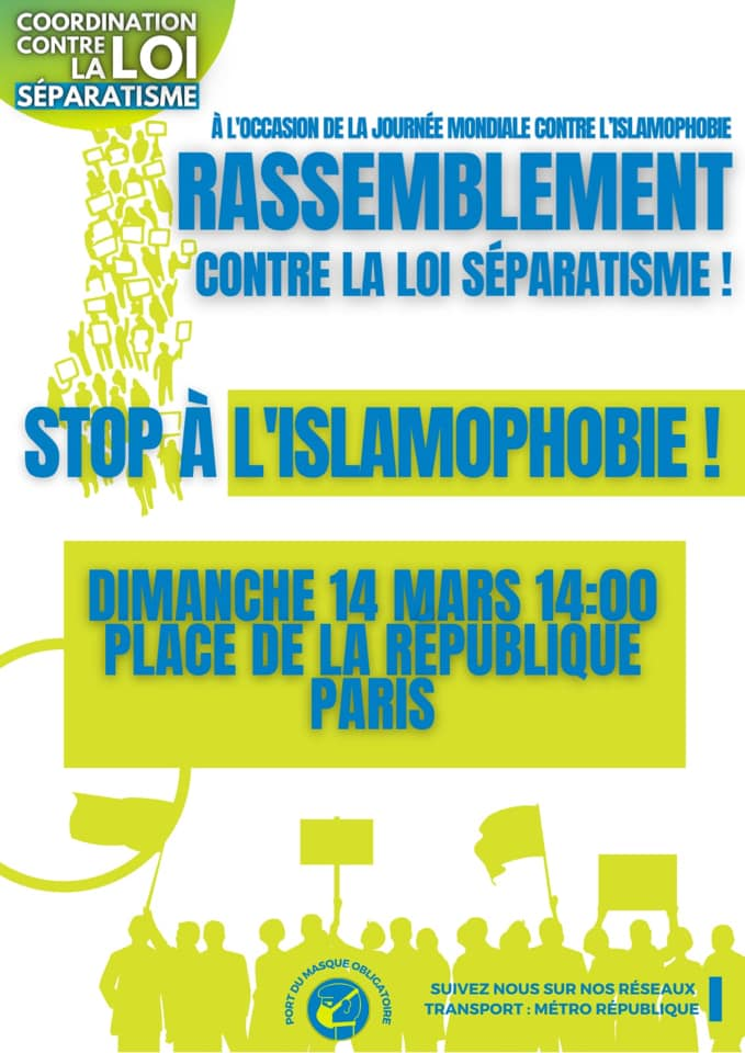 rassemblement islamohobes