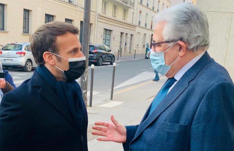 Macron visite mosquée