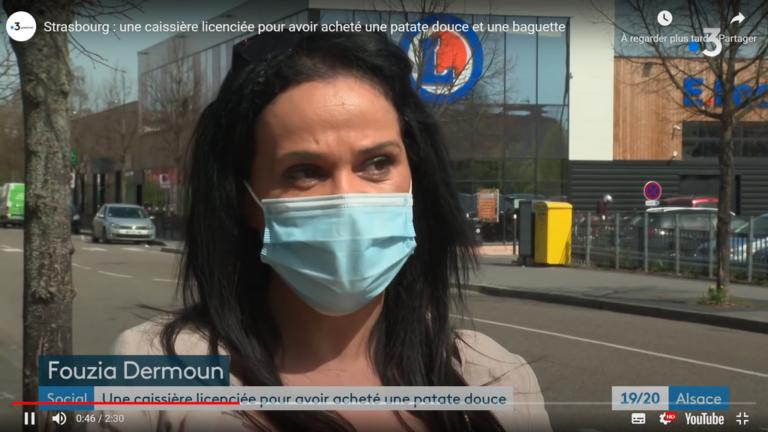 Fouzia Dermoun caissière Leclerc licenciement