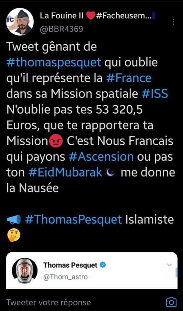 Thomas Pesquet islamophobie