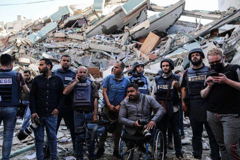immeuble journalistes gaza