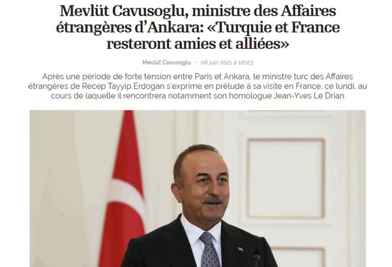 Mevlut Cavusoglu visite France